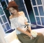 Lady Georgia Sweet Vintage Off-Shoulder Lace Top L140-69B31 thumbnail 4