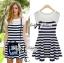DR-LR-194 Lady Suzi Basic Chic Striped Mini Dress thumbnail 9
