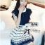DR-LR-209 Lady Claire Mixed Print Sleeveless Insert Chiffon Shirt Dress thumbnail 2