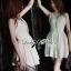 Lady Annette Pearl Embellished Laser-Cut Apron Dress in White L151-85E04 thumbnail 4