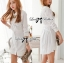 DR-LR-106 Lady Yuri All White Glam Chic Shirt Dress thumbnail 5