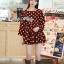 DR-LR-291 Lady Dree Monochrome Heart-Shaped Print Mini Dress thumbnail 5