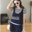 Lady Charlotte Striped Top with Ripped Tank Top and Shorts Set L263-8511 thumbnail 8