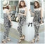DS-PP-035 Lady Margaret Casual Chic Graphic Print Lace Jumpsuit thumbnail 13