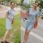 Lady Jill Geometry Flared-Sleeved Brocade Denim Dress L193-69C05 thumbnail 15