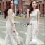 Lady Katy Smart Casual White Guipure Lace Jumpsuit L272-8917 thumbnail 7