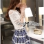 Lady Helena Sweet Casual Lace Top and Printed Skirt Set L162-85E01 thumbnail 3