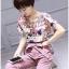 Lady Jennifer Floral Printed Top and Pink Ribbon Pants Set L260-7906 thumbnail 6