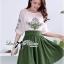 DR-LR-264 Lady Joanne Sweet Vintage Embroidered Olive Green Dress thumbnail 8