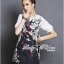 DR-LR-285 Lady Ashley Mysterious Wicked Girl Print Dress thumbnail 6