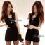DR-LR-041 Lady Miki Pleats Please Chiffon Dress (สีดำ) thumbnail 1