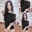 เสื้อชีฟองสไตส์เกาหลีน่ารักๆไฮโซสุดๆแต่งดอกฟรุ่งฟริ้งปลายแขน thumbnail 2