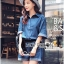 Lady Rosie Sporty Blue Denim Cotton Playsuit with Ribbon L188-69B07 thumbnail 3