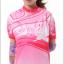 ชุดปั่นจักรยานผู้หญิง สีชมพู เสื้อสั้น กางเกง 3 ส่วน thumbnail 2