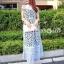 Dress ชุดกระโปรงอัดแน่นด้วยลูกไม้ทั้งชุด คอปกสีขาว thumbnail 4