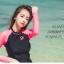 SM-V1-578 ชุดว่ายน้ำแขนยาว กางเกงขาสั้นสีชมพูบานเย็นสวย ๆ thumbnail 7
