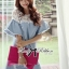DR-LR-094 Lady Natalie Casual Slouchy Lace and Denim Dress thumbnail 13