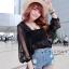 Lala Chiffon Blouse สีดำ C147-49A10 thumbnail 2