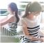 DR-LR-194 Lady Suzi Basic Chic Striped Mini Dress thumbnail 2