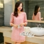 Annie dress pink lace embroidery Lady by Aris Code ุA254-654705 thumbnail 4