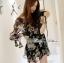 Lady Daria Beachy Blossom Print Chiffon Mini Dress L197-65C11 thumbnail 4