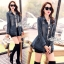 Jeans jacket female spring Korean lace long-sleeved shirt by Aris Code thumbnail 2