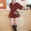 DR-LR-291 Lady Dree Monochrome Heart-Shaped Print Mini Dress thumbnail 8