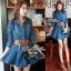 DR-LR-025 Lady Ribbon's Made Lady Mara Chic Denim Dress thumbnail 5