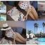 SM-V1-427 สีขาว-- ชุดว่ายน้ำวันพีช ลายหัวใจน่ารัก ด้านหลังสายผูก thumbnail 8