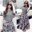 Lady Liz Lace Jumper and Floral Printed Midi Skirt Set L200-89C11 thumbnail 1