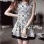 DR-LR-087 Lady Avril Minimal Chic Swirl Print Dress thumbnail 1