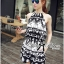 DS-PP-039 Lady Ashley Printed Playsuit in Black and White thumbnail 9