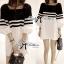Lady Pippa Minimal Casual Striped Dress thumbnail 8