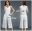 Lady Cara Holiday Casual White Lace Cropped Top and Culottes Set L253-75C22 thumbnail 7