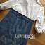 Lady Coco Cotton White Shirt with Denim Skirt Dress L202-69B10 thumbnail 16