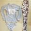 SM-V1-632 ชุดว่ายน้ำแขนยาว+ขายาว เสื้อสีเทา กางเกงลายสวยๆ เซ็ต 3 ชิ้น (แขนยาว+บิกินี่+ขายาว) thumbnail 2