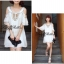 DR-LR-098 Temperley London Giovanna Embellished White Tunic Dress thumbnail 10