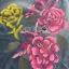 Lady Elizabeth Modern Chinese Roses Printed Denim Dress L256-75C04 thumbnail 15