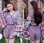 Issue Cassandra Colourful Printed Kimono Playsuit L261-6913 thumbnail 5