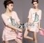 Lady Briony Playful Layered Sequin Dress Set สีชมพู thumbnail 2