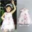 GD022 ชุดเดรสีขาว ลายดอกไม้และผีเสื้อ ชุดออกงานเด็กหญิง thumbnail 4