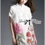 Lady Claire Flower Embroidered Organza and Cotton Shirt Dress L201-75C11 thumbnail 7