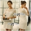 DR-LR-157 Lady Rebecca Classic Lace Dress in White thumbnail 1