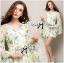 Lady Annie Floral Printed Flared Sleeve Chiffon Mini Dress thumbnail 6