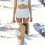 SM-V1-521 ชุดว่ายน้ำแขนยาว เอวสูง สีขาวสวย เซ็ต 3 ชิ้น (บรา+เอวสูง+เสื้อคลุมแขนยาวมีซิป) thumbnail 11