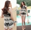 Lady Helena Black and White Lace Cropped Top and Shorts L271-6910 thumbnail 11