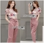 Lady Jennifer Floral Printed Top and Pink Ribbon Pants Set L260-7906 thumbnail 1