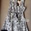 DR-LR-087 Lady Avril Minimal Chic Swirl Print Dress thumbnail 12