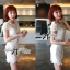 DR-LR-053 Lady Pure White Blossom Embroidery Gala Mini dress thumbnail 6