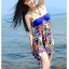 SM-V1-215 ชุดว่ายน้ำแฟชั่น คนอ้วน เด็ก ดารา thumbnail 6